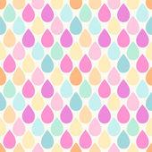 Seamless primitive retro pattern with bright drops — ストックベクタ