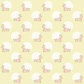 Patrón de vendimia con corona de rosa — Vector de stock