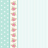 Classic vintage striped background with textile ribbon border — Stockvektor