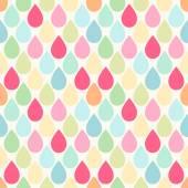 Seamless primitive retro pattern with bright drops — Stock Vector
