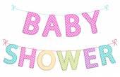 Cute festive garlands for baby shower — Stock vektor