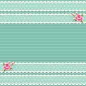 Classic vintage striped background with textile ribbon border — ストックベクタ