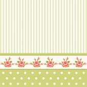 Classic vintage striped background with textile ribbon border — Stock Vector