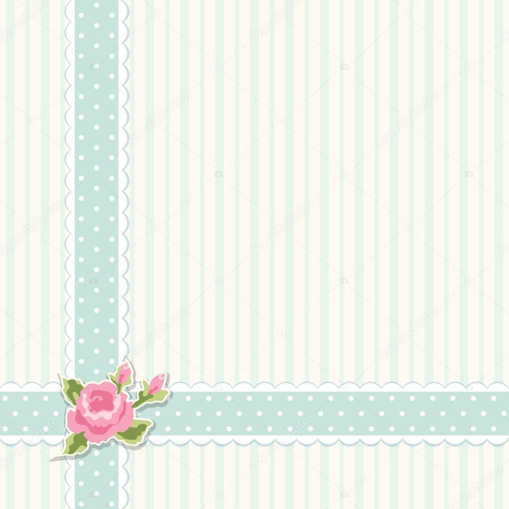 Paper Flower Classic Vintage Shabby Chic Background Stock Vector