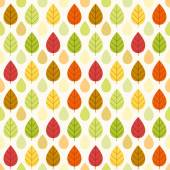 Primitive retro seamless pattern with leaves — Stock Vector
