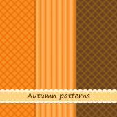 Set of three primitive retro patterns — Wektor stockowy