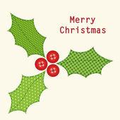 Christmas Holly Berry — Stockvektor