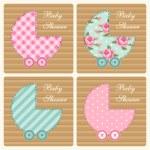 Set of baby prams — Stock Vector #59598217