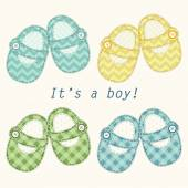 Baby boy shoes — Stock Vector
