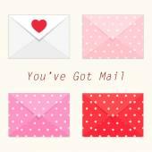 Retro envelopes with ornament — Stock Vector