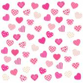 Background with hearts — Vector de stock