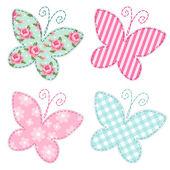 Cute primitive butterflies — Stock Vector