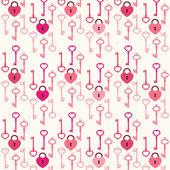 Hearts as lock and keys — Wektor stockowy