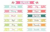 Retro festive ribbons — Stock vektor