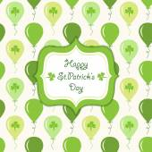 St.Patrick'ın günü kartı — Stok Vektör