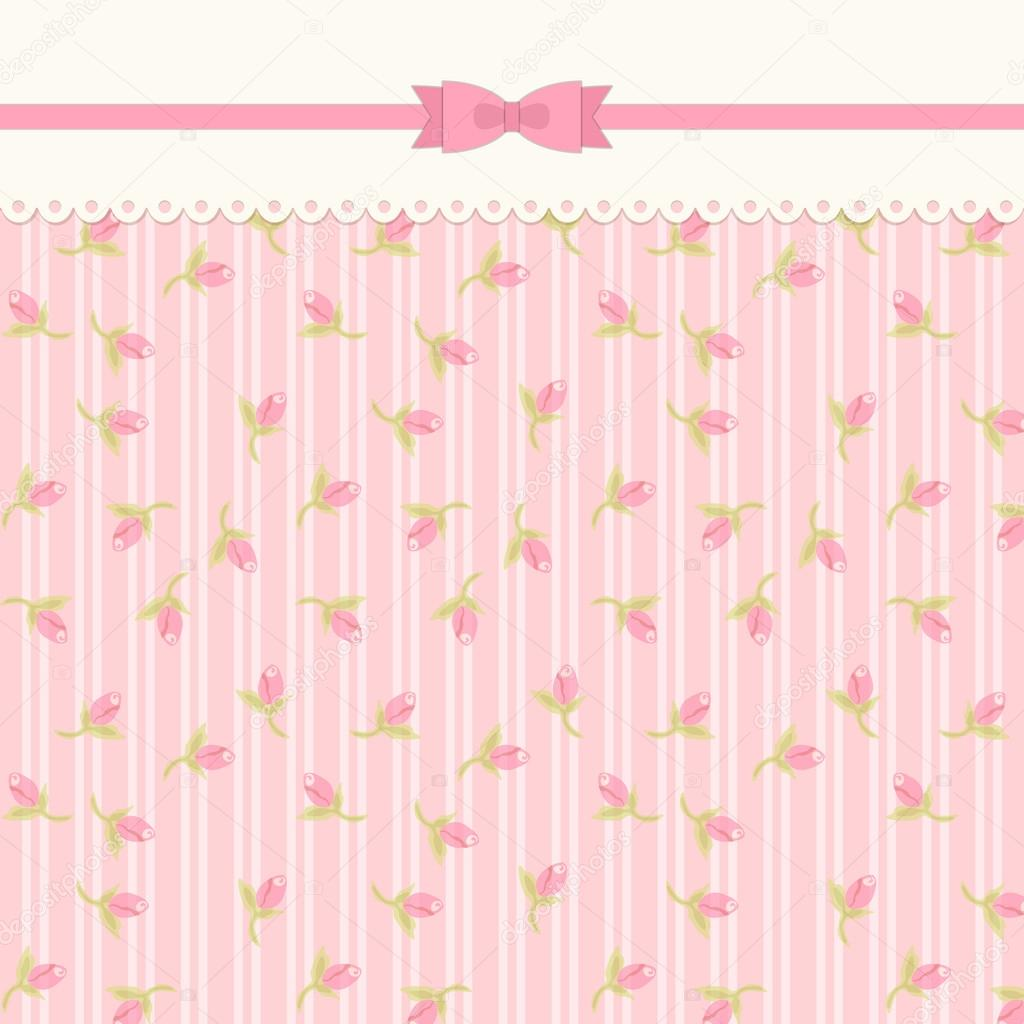 Shabby Chic Background With Roses Stock Vector
