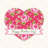 Carte de fête des mères — Vecteur