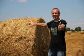 Smiling Agriculturist Showing Thumbs Up — Stock Photo