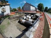 District Heating Pipes — Stock Photo