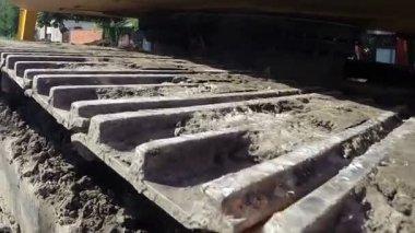 Tracked Excavator — Stock Video