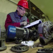 Maintenance Engineer Checking Technical Data — Stock Video #68947423