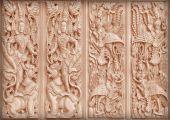 Anioły rzeźba buddyjski — Zdjęcie stockowe