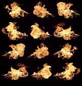 火和火焰 — 图库照片