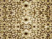 Carved wood gold wall — Foto Stock