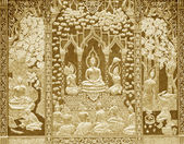Wood carving Buddhist temple — Stock Photo