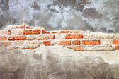 Old decayed wall — Stock Photo