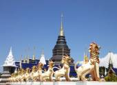 Buddhist Temple Sing Statue — Stockfoto