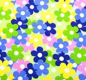 Fabric flowers wallpape — Stock Photo