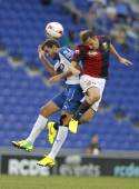 Marchese of Genoa vies with Stuani Espanyol — Stock Photo