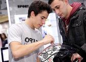 World champion motocycle racer Marc Marquez — Stock Photo