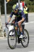 Winner Anacona of Movistar Team — Stock Photo
