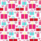 Beautiful seamless pattern Valentine's Day — Stock vektor
