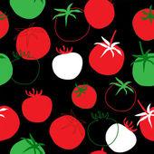 Seamless bright template of tomato — Stock Vector