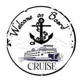 Welcome on Board, Cruise — Vector de stock