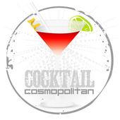 Cocktail Cosmopolitan Stamp — Stock vektor