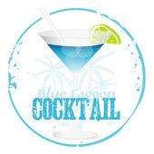Modrá laguna koktejl — Stock vektor