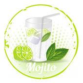 Stamp Mojito — Stock Vector