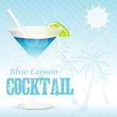 Blue Lagoon Background — Stock vektor