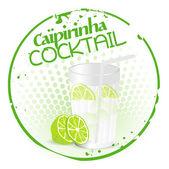 Caipirinha Cocktail Stamp — Stock vektor