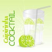 Koktejl caipirinha — Stock vektor