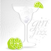 Gin Fizz Background — Stock Vector