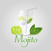 Background mojito — Stock Vector