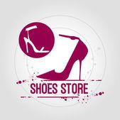 Stamp Shoes Store — ストックベクタ