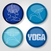 Icons yoga — Stock Vector