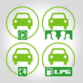 4 icons Ecology — Stock Vector