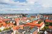 Copenhagen skyline — Stock Photo
